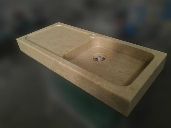 Marmo pietra acquaio scavato cucina esterno taverna art lav3a - Lavandini in marmo per cucina ...