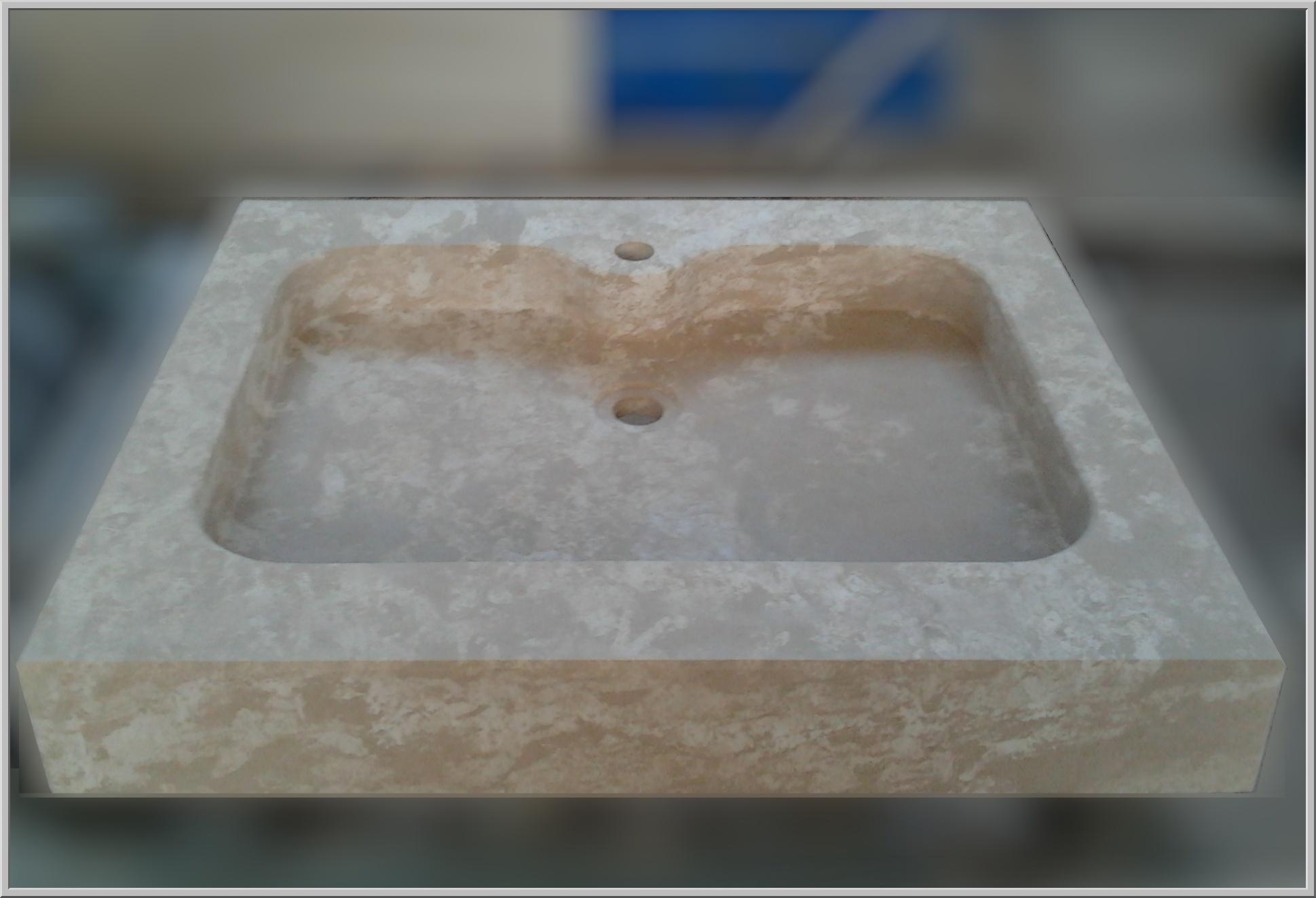 Marmo pietra acquaio scavato cucina esterno taverna art - Lavandini in marmo per cucina ...