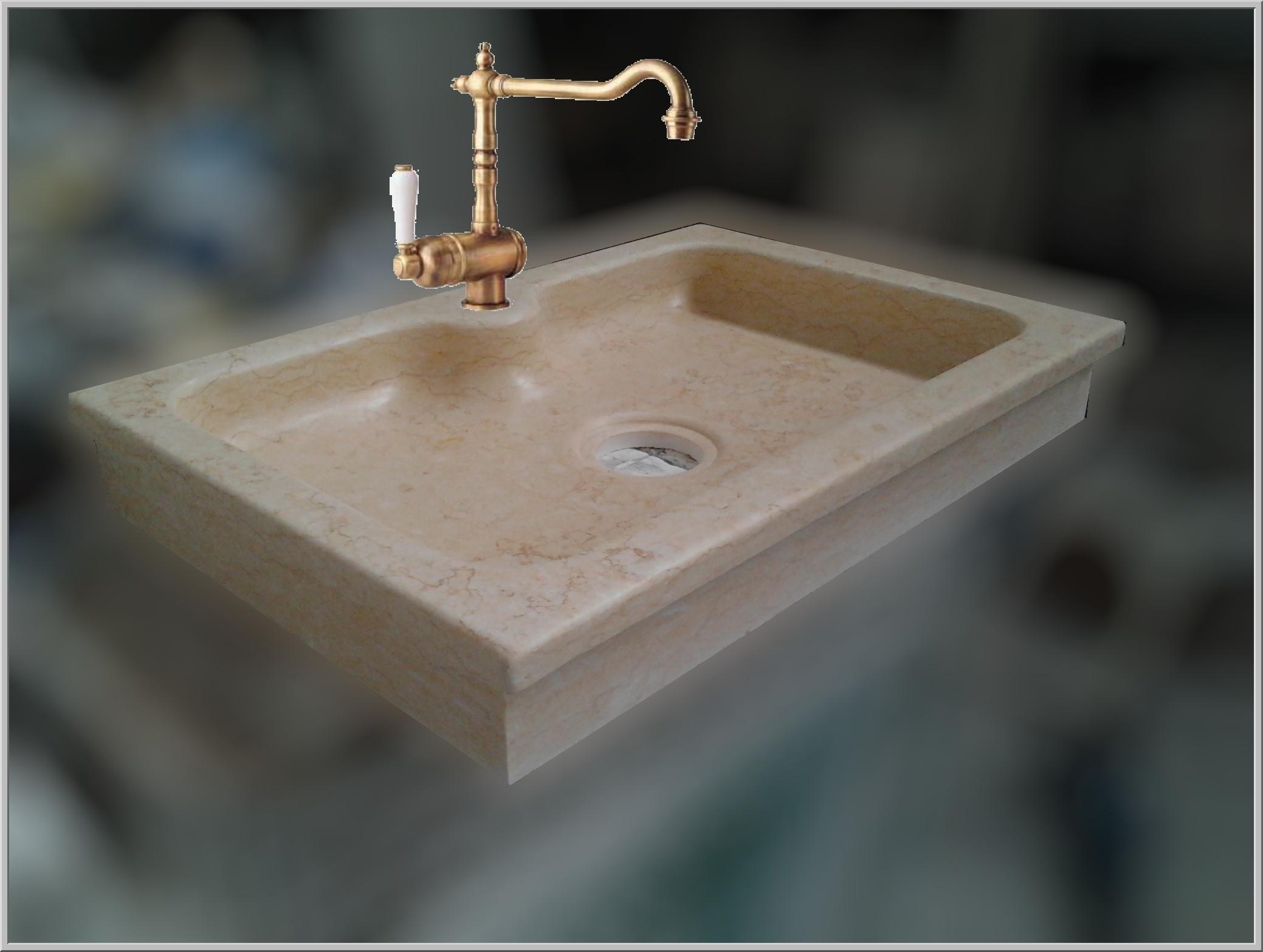Lavandino lavello da sopra top o da incasso in marmo per - Mobili per lavelli cucina ...