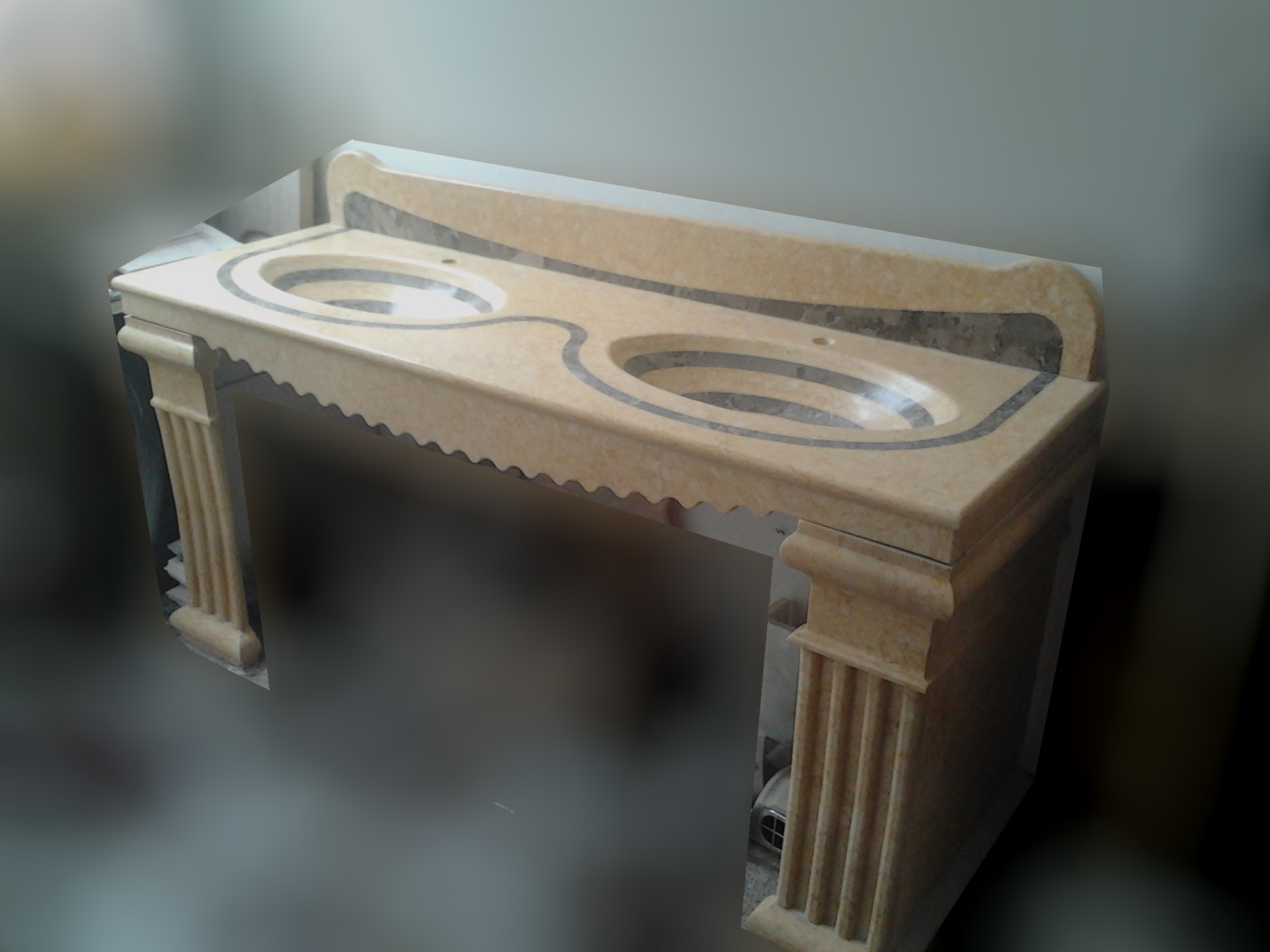 Lavelli lavandini lavabi piatti doccia in marmo pietra mobili da bagno arredamento rustico moderno - Lavandini con mobile bagno ...