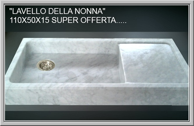 Lavabo lavello lavandino per cucina o esterno in marmo - Lavabo bagno marmo prezzi ...