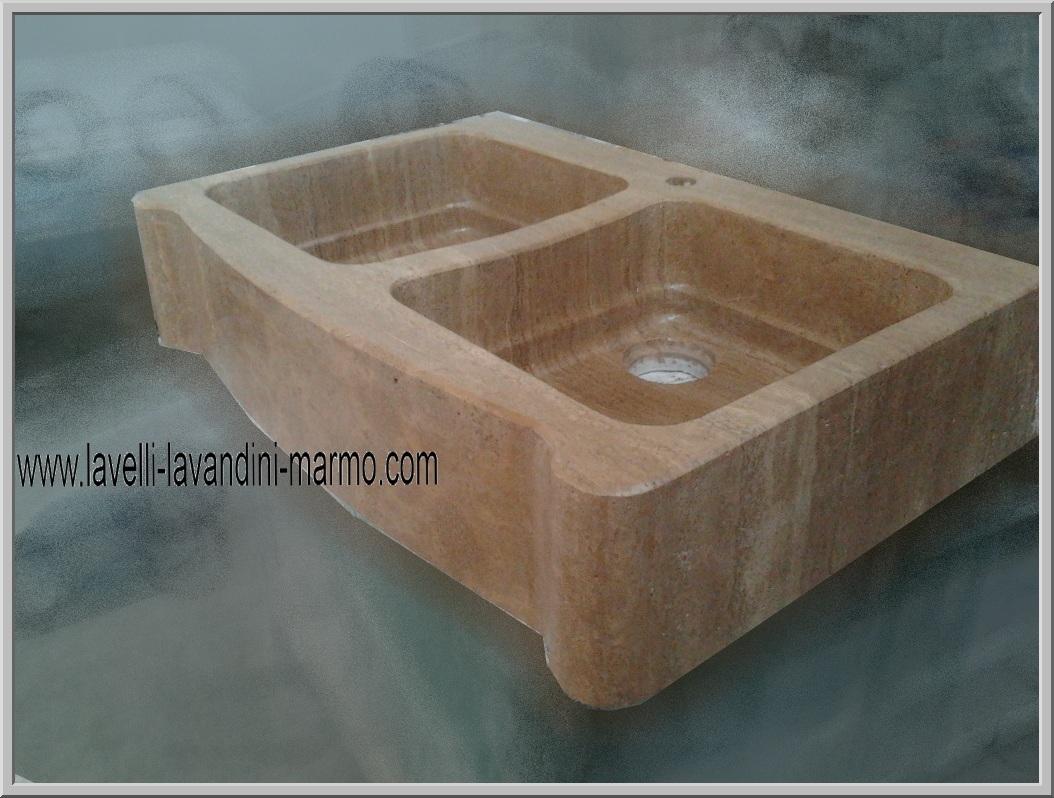 Lavandino marmo lavello per cucina o esterno in pietra o - Lavandini in marmo per cucina ...