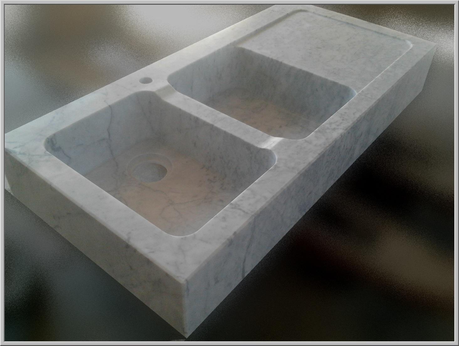 Marmo pietra acquaio scavato cucina esterno taverna - Lavandini in marmo per cucina ...