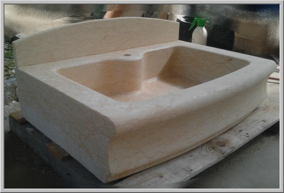 Marmo pietra acquaio scavato cucina esterno taverna art lav6a - Lavelli cucina in pietra ...