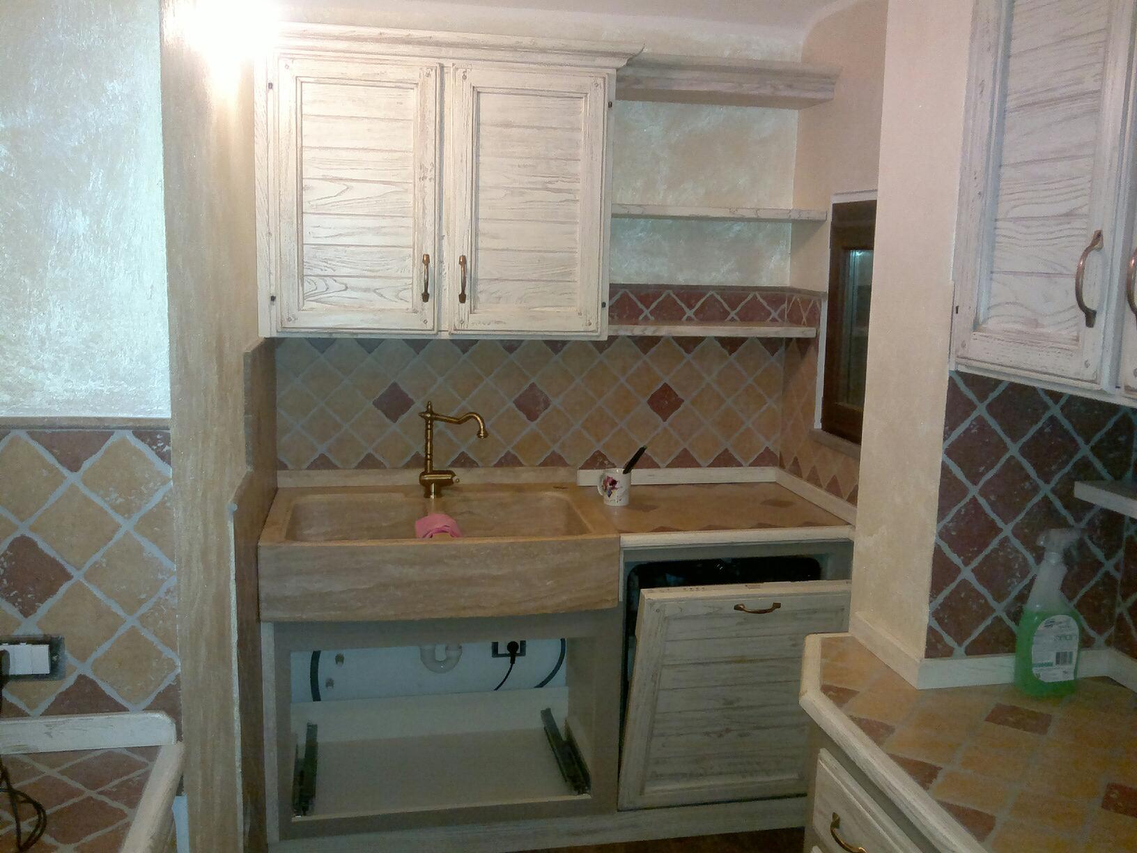 Lavandino lavello acquaio in travertino cucina taverna ebay - Lavandini in marmo per cucina ...