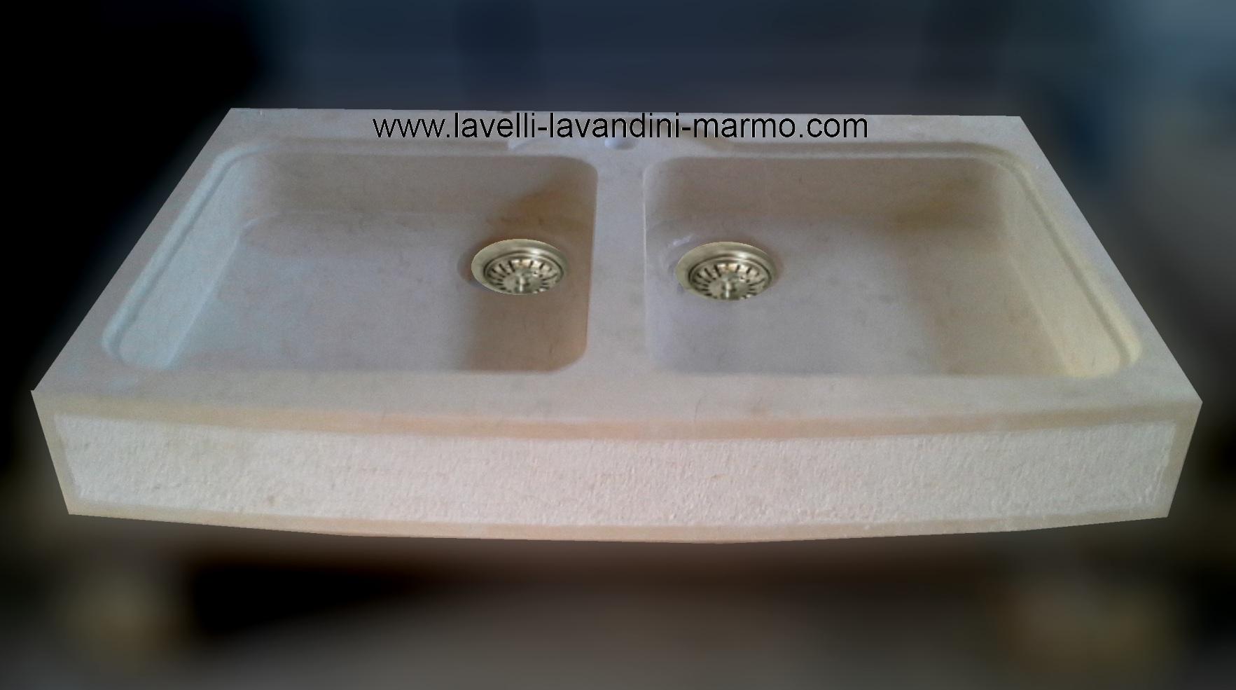 Marmo pietra acquaio scavato cucina esterno taverna art lav2a - Lavandini in marmo per cucina ...