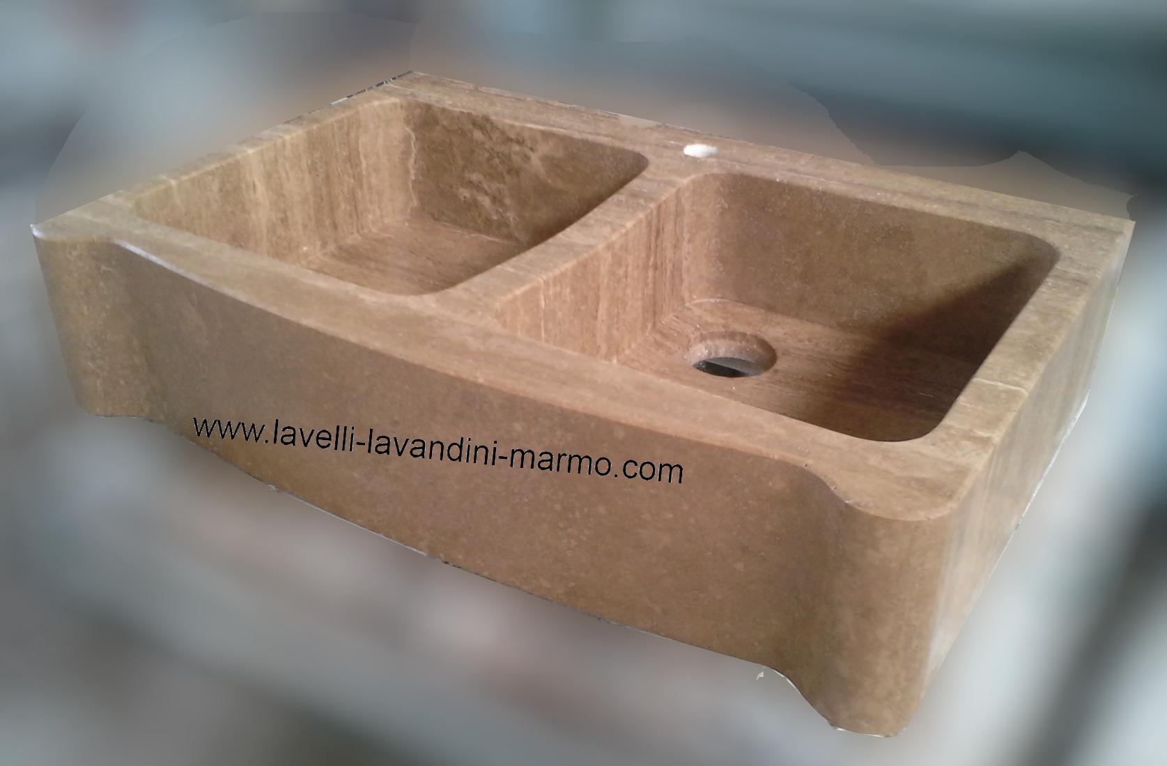 Marmo pietra acquaio scavato cucina esterno taverna art lav1a - Lavandini in marmo per cucina ...