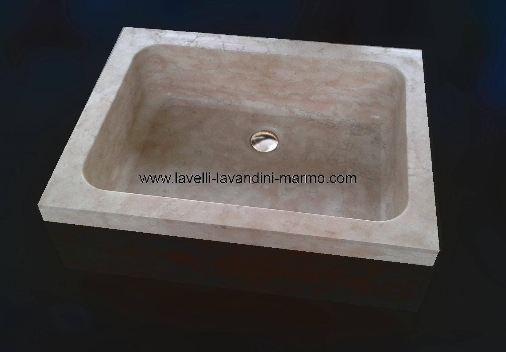 Lavabo lavandino lavello acquaio da incasso in marmo ebay - Lavandini x cucina ...