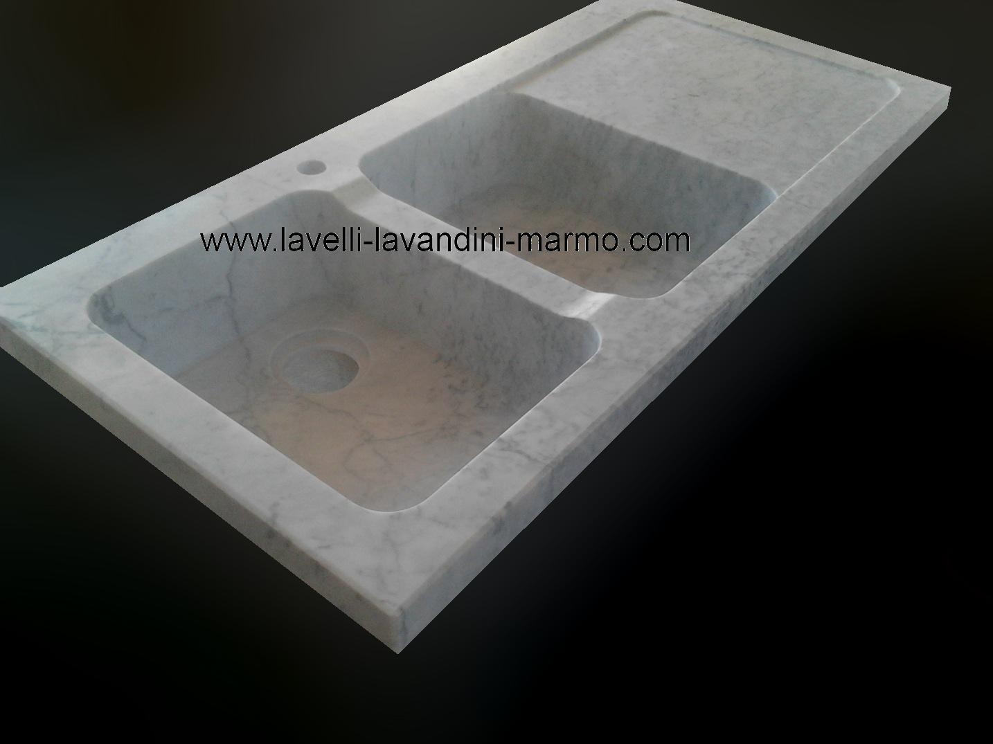 Marmo pietra acquaio scavato cucina esterno taverna - Lavandini da cucina in ceramica ...