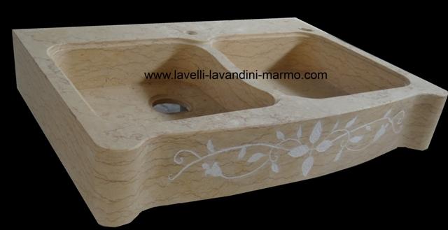 marmo pietra acquaio scavato, cucina esterno taverna art.lav1a - Lavandini Cucina In Pietra